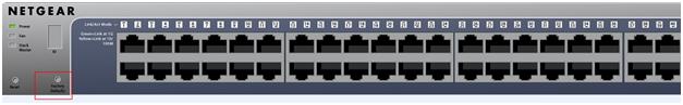 NETGEAR ProSafe Switch Factory Reset Button